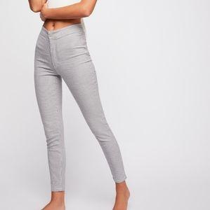 FREE PEOPLE Belle Stripe Cotton Skinny Pant